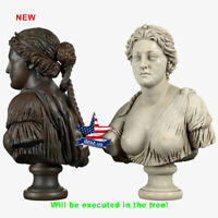 ❤️️Aphrodite Bust❤️️WOOD CARVED SCULPTURE STATUE FIGURE ARTWORK PICTURE ICON