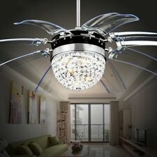 New Fashion Transparent Blade Retractable Ceiling Fan Lights Chandelier Lighting