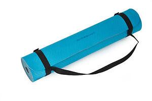 Deuser-Matte blau/hellblau. für Yoga, Pilates, ect. Sehr griffest. ca.183x61x0,6