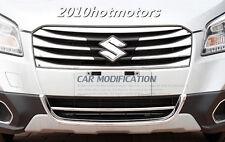 2P Chromed ABS Plastic Front Bottom Grille Lip Trim For 2014 Suzuki SX4 S-Cross