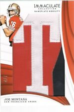 2018 Panini JOE MONTANA Immaculate Collection Nameplate Nobility Letter T #d 4/7
