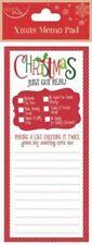 Christmas Magnetic Memo List Pad for Fridge Check List Things to Buy