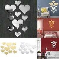 10 stücke Liebe Herz 3D Spiegel Wandaufkleber Romantische Wandbild Aufkleb