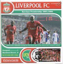 Liverpool 2005-06 Blackburn (Djibril Cisse) Football Stamp Victory Card #509
