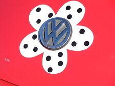 VW Beetle Flower Magnetic Decal- Black  Polka Dots