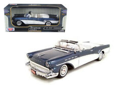 1957 Buick Roadmaster Convertible Blue 1/18 Scale Diecast Model Car by Motormax