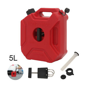 5L Red Jerry Can Spare Container With Free Holder Fuel Container Heavy Duty