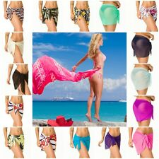 SARONG Beach Bikini Cover up Solid Pareo swim skirt short wrap COQUETA assorted