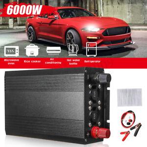 Car Pure Sine Wave Power Inverter Converter 3000W(Peak6000W) DC 12V to AC