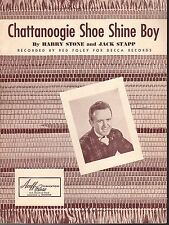 CHATTANOOGIA SHOE SHINE BOY Sheet Music  1950  RED FOLLEY