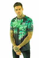 11 Degrees New Mens Crew Neck Short Sleeve Tropix Sub T-Shirt Black Green