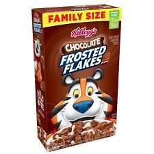 NEW KELLOGGS FAMILY SIZE CHOCOLATE FROSTED FLAKES OF CORN CEREAL 24.7 OZ BOX