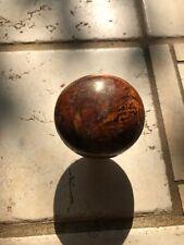 Antique gorgeos Brown Marble Swirl Tiger Eye Glass Porcelain Door Knob Lt Brown