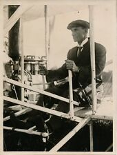PHOTO PRESSE 1933 - Anniversaire Exploits Wilbur WRIGHT Aviateur Le Mans