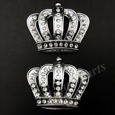 2x Metal Crystal Crown Rhinestone Luxury VIP Car Emblem Badge Motorcycle Sticker