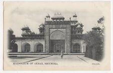 India, Mausoleum of Akbar, Secundra Early UB Postcard, B213