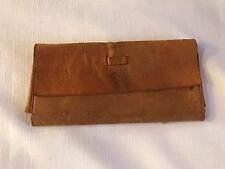 VINTAGE/ANTIQUE MONEY HOLDER/ WALLET LEATHER PM USED IT IN 1900'S LEATHER