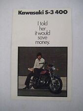 KAWASAKI S3 400 FACTORY DEALER SALES BROCHURE NOS!