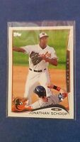 JONATHAN SCHOOP 2014 TOPPS CARD #83 MILWAUKEE BREWERS/ORIOLES (( ROOKIE ))