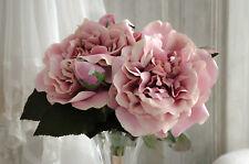 Rose Kunstblumen Bouquet Seidenblumen Blumen Altrosé Strauß Shabby Landhaus