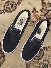 Vans Slip On Shoes Mens Size 4.5 Womens Sz 6 Black White