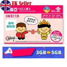 Prepaid Sim Card Vietnam Thailand Singapore Philippines Cambodia Unlimited Data