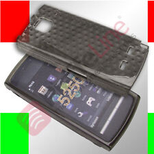 Custodia in silicone TRASPARENTE nera cover anti shock per NOKIA 5250