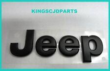 2007- 2015 Jeep Wrangler Grand Cherokee Grill Nameplate Emblem Black Mopar Oem