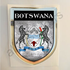 Botswana Sticker Coat of Arms Resin Domed Stickers Flag Grunge Adhesive 3D Car