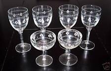 ANCHOR HOCKING STANDARD GLASS CRISS CROSS & BAND STEMS