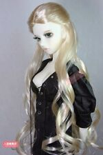 "BJD Doll Hair Wig 8-9"" 20-22cm golden 1/3 SD DZ DOD LUTS Mohair Long curly hair"