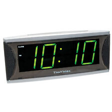 Low Vision Large Numbers Super Loud - Green LED Alarm Clock