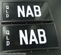 ".RARE ""NAB"" QUEENSLAND NUMBER PLATES - NAB BANK"