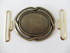 Antique Brass Buckle with Hook Eye Set For Making Belt/Crafts