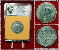 Ancient Roman Empire AUGUSTUS Struck In JULIA TRADUCTA,SPAIN Emperor On Obverse
