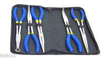 "LONG NOSE PLIERS  5 PC SET 11"" BENT NEEDLE CABLE STRAIGHT NOSE LONG REACH PLIERS"