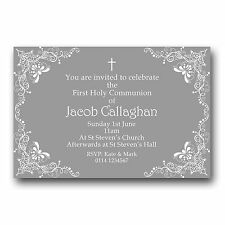 10 Personalised Invitations Invites 1st First Holy Communion H35