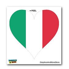 Italy Italian Flag Heart - Window Bumper Sticker
