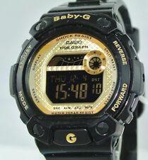 """Casio BABY G Damen- & Mädchen-Uhr """"schwarz & gold"""" / Quarz / Kunststoffarmband"""
