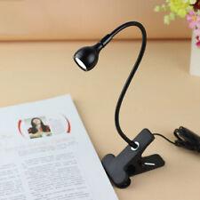 Flexible USB Clip on LED Desk Lamp Clamp Reading Light Bed Headboard Study Light