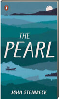 Penguin Books with Reading Guides: The Pearl by John Steinbeck (2000, Paperback)