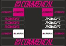 COMMENCAL Mountain Bicycle Frame Decal Stickers Graphic Adhesive Set Vinyl Pink