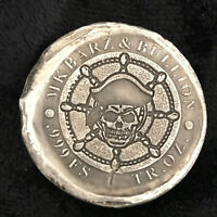 "1 tr/oz MK BarZ Double Sided ""Pirate Captain Coin"" Round .999 FS"