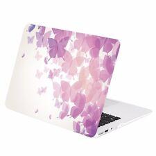 """Purple Butterflies Graphics Matte Hard Case for Macbook Air 13"""" A1369 & A1466"""