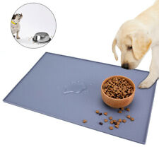 Large Silicone Pet Feeding Mat Non Slip Pet Food Placemat for Dog Cat Puppy Bowl
