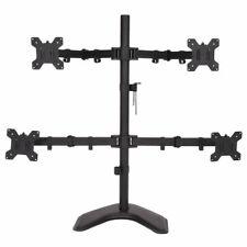 """4 LCD Tilt Monitor Mount Desk TV Bracket Stand Adjustable Arms Swiel up to 27"""""""