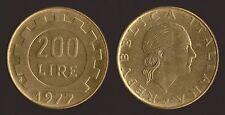 200 LIRE 1977 LAVORO - ITALIA Q.FDC/aUNC QUASI FIOR DI CONIO