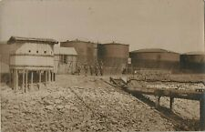 WW1 Soldier group Royal Marines or RMLI guarding an oil storage facility