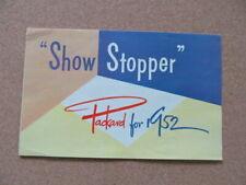 "1952 Packard ""Show Stopper"" Auto Brochure"