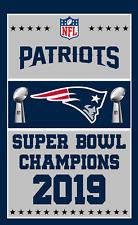 New England Patriots Super Bowl Champions 2019 Flag